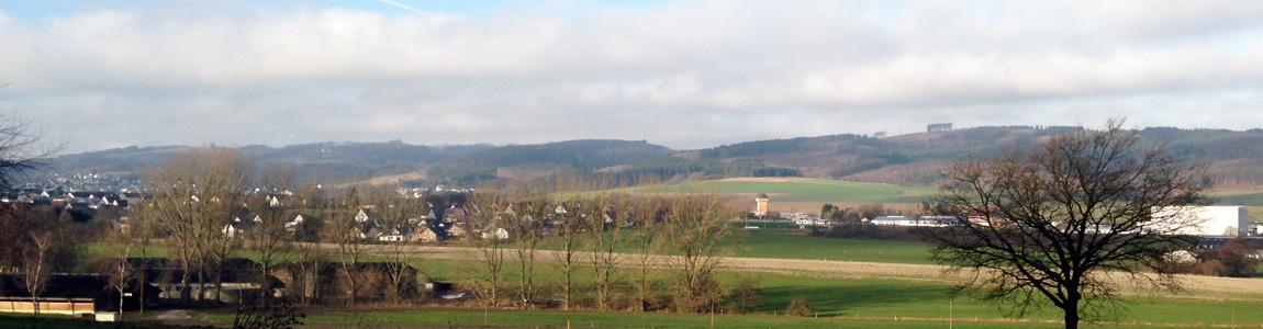 Panorama Blick über Küntrop